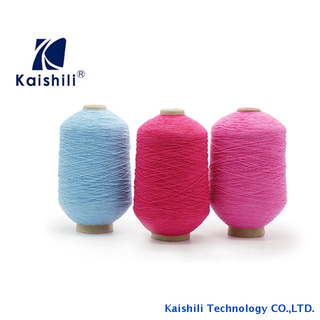 Colorful and cheap price elastic conductive latex rubber covered polyester stretch yarn for gloves