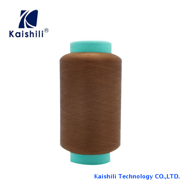 China Manufacturer Dyed SCY Single Spandex Covered Polyester Yarn for Knitting Socks
