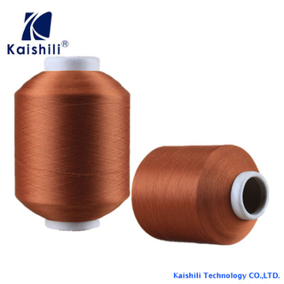 Polyester Single Spandex Covered Yarn SCY 2075 For Knitting Supplier
