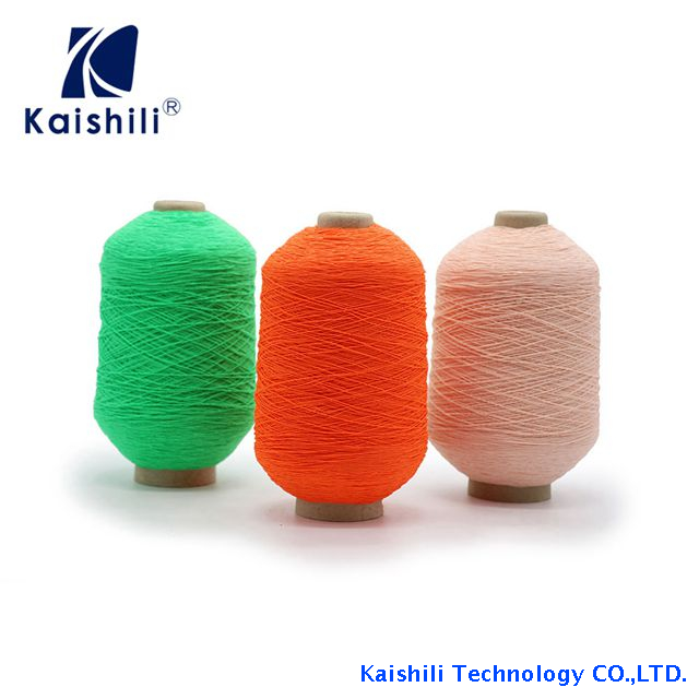 High Quality Polyester Yarn Lycra Rubber Covered Yarn for Socks Knitting