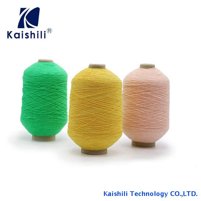 High Quality 63/90/100/110/120 Polyester Rubber Covered Yarn for Knitting
