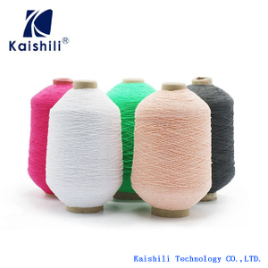 Whole Sale 63#/150/150 Polyester Rubber Covered Yarn for Gloves and Socks